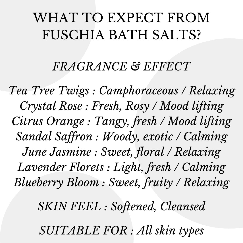Fuschia - Crystal Rose Bath Salt - 100 gms