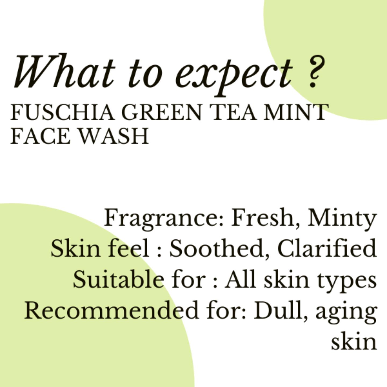 Fuschia Mojito Green Tea Mint Soap Free Face Wash - 50ml
