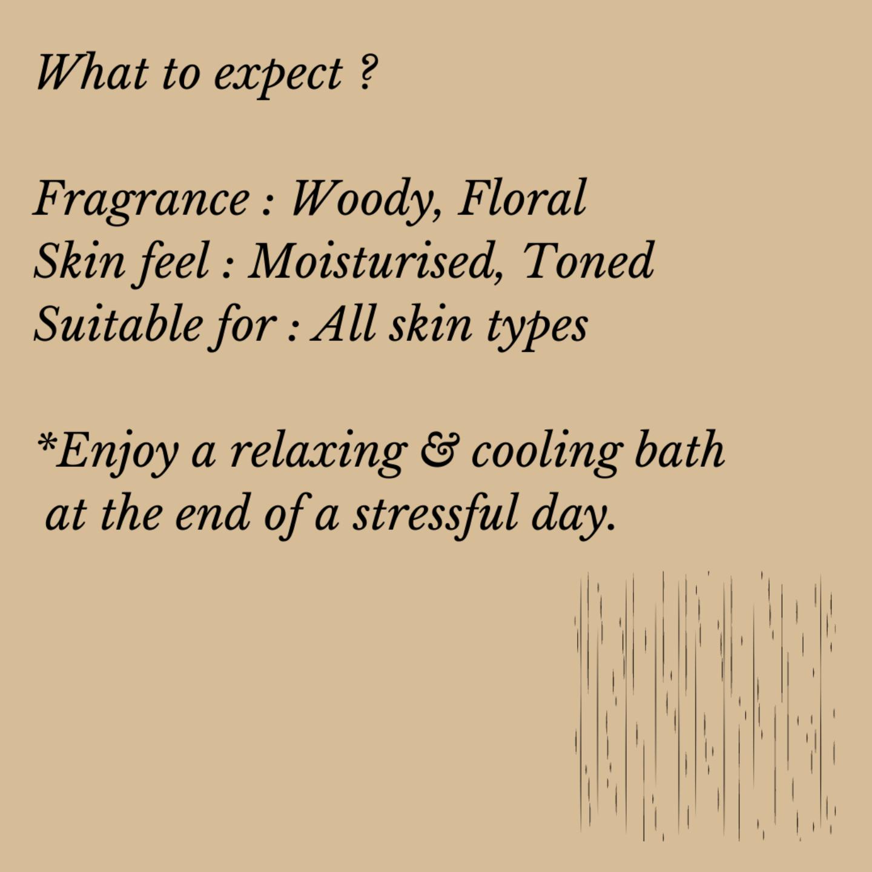 Fuschia - Sandal Natural Handmade Glycerine Soap-20g