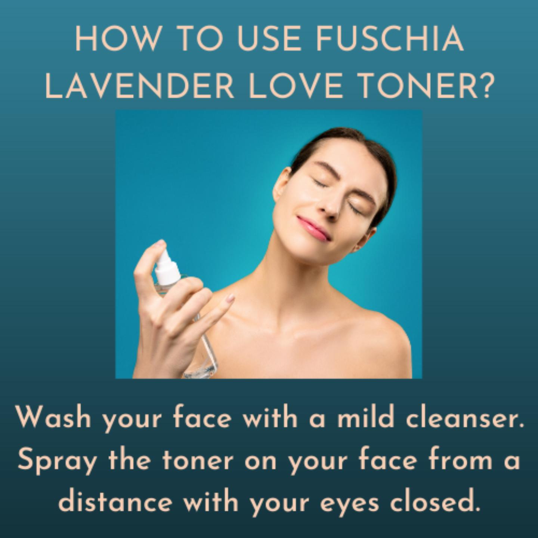 Fuschia Hydrating Facial Toner - Lavender - 50ml