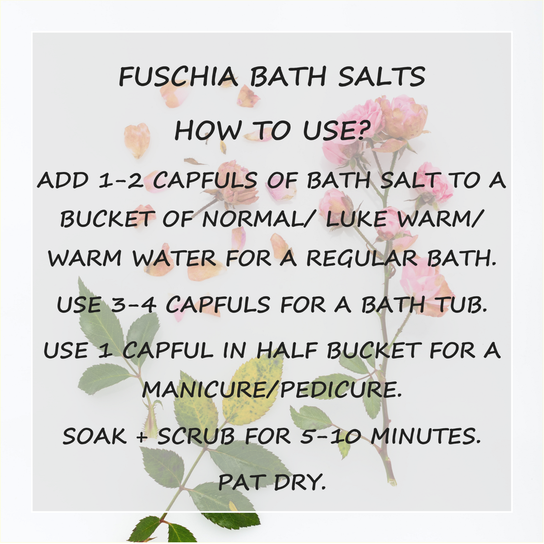 Fuschia - Citrus Orange Bath salt - 15 gms