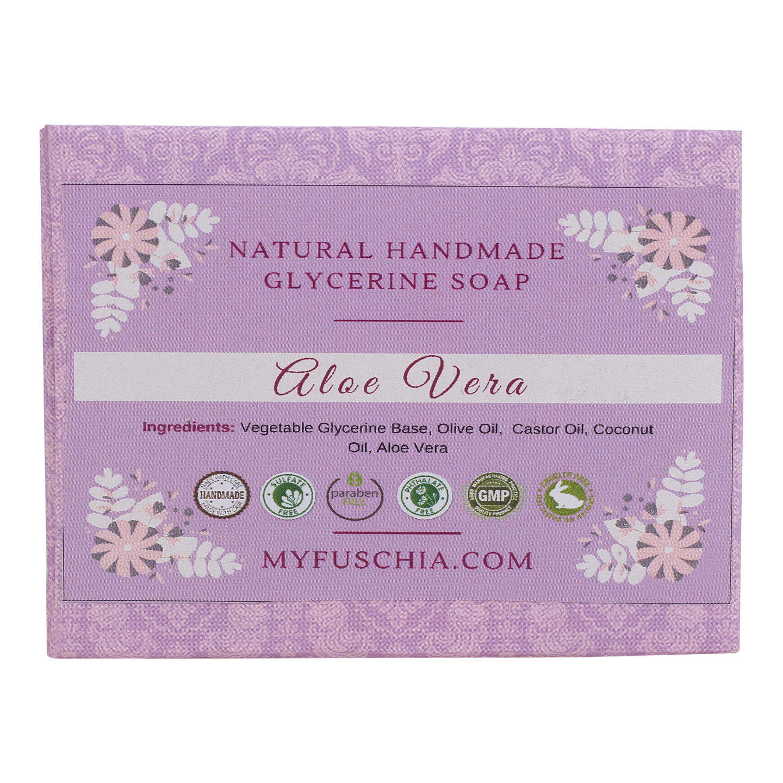Fuschia - Aloe Vera Natural Handmade Herbal Soap