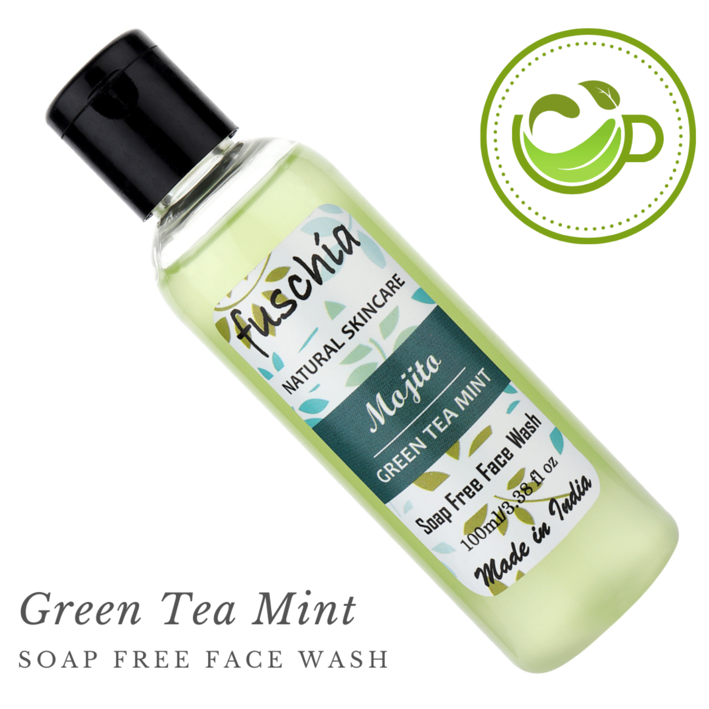 Fuschia Mojito Green Tea Mint Soap Free Face Wash - 100ml