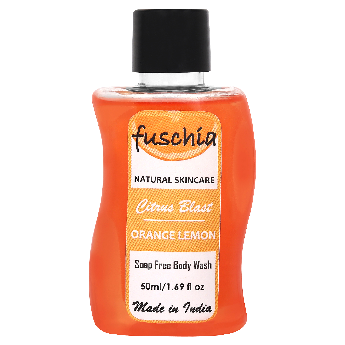 Fuschia Citrus Blast Orange Lemon Soap Free Body Wash - 50ml