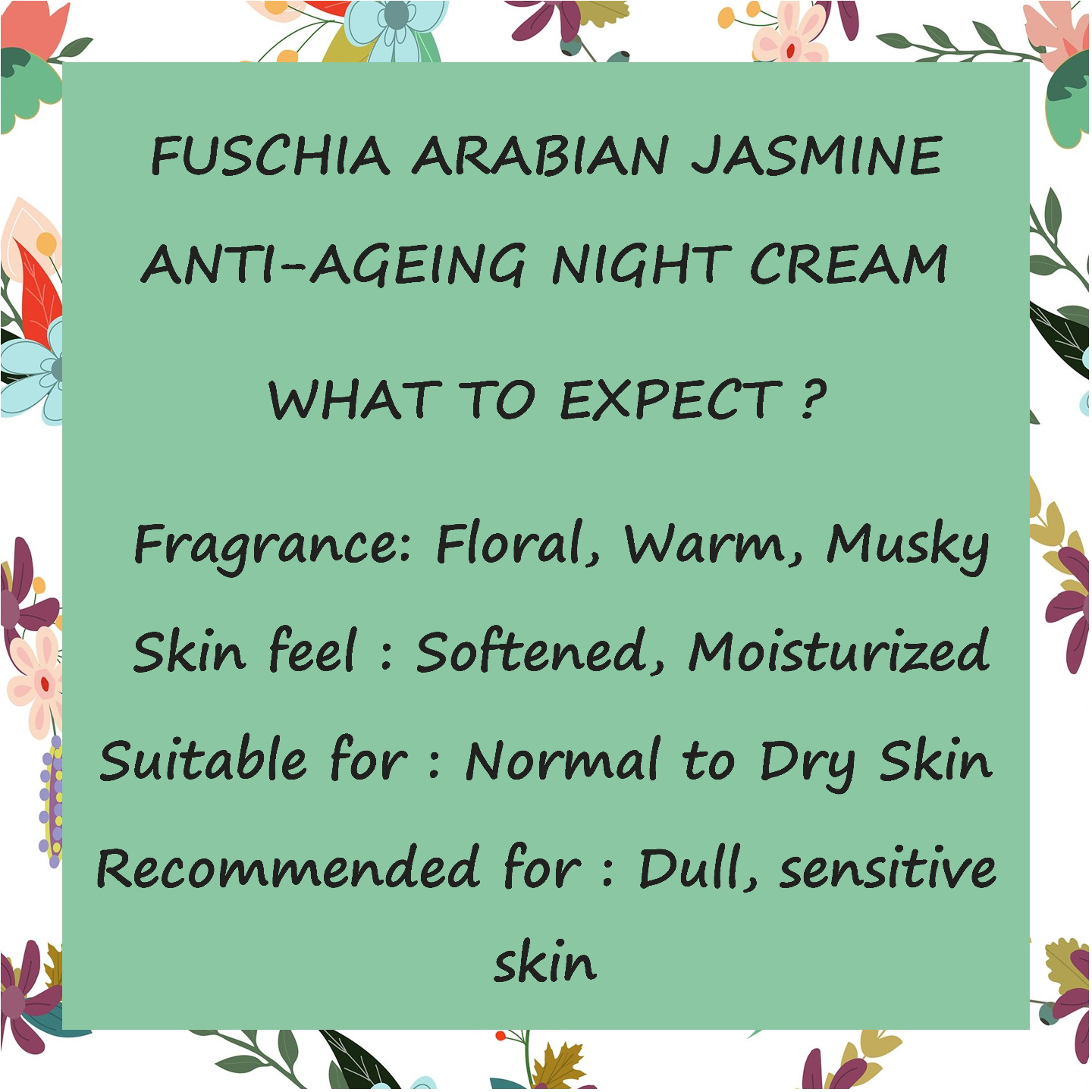 Fuschia - Arabian Jasmine  Anti-ageing  Night  Cream - 10g