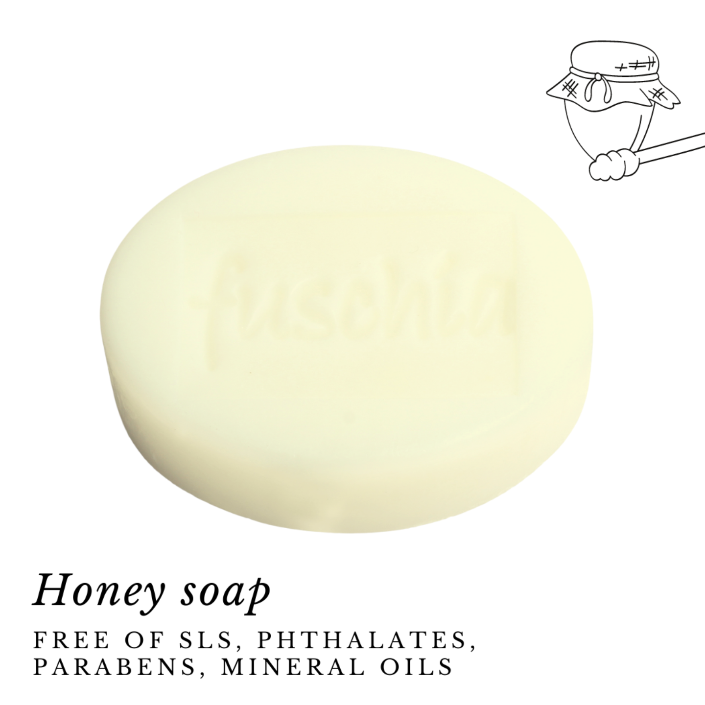 Fuschia - Honey Natural Handmade Herbal Soap