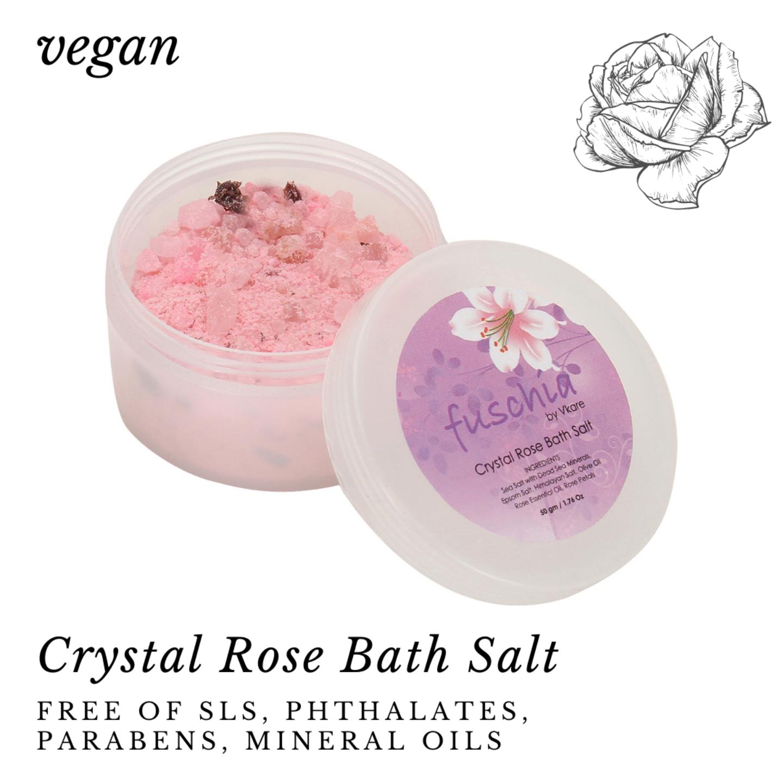 Fuschia - Crystal Rose Bath salt - 50 gms