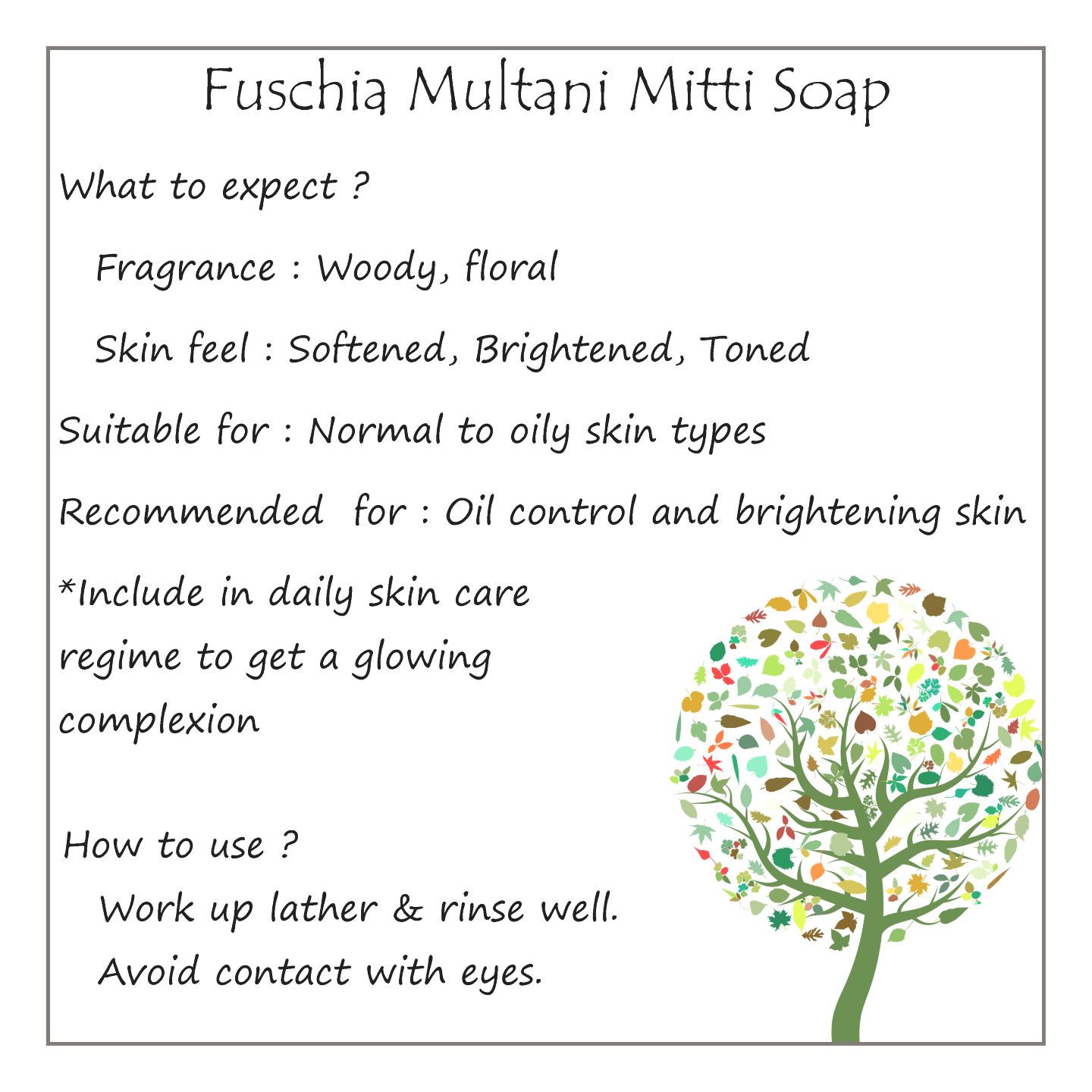 Fuschia - Multani Mitti Natural Handmade Herbal Soap