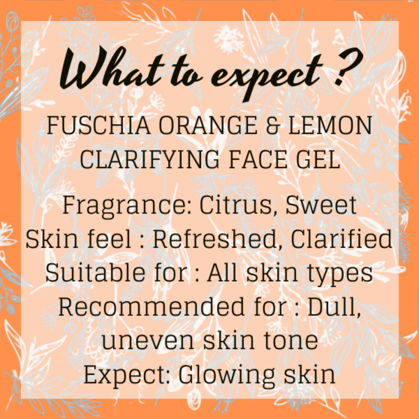 Fuschia Clarifying Face Gel - Orange & Lemon - 50g