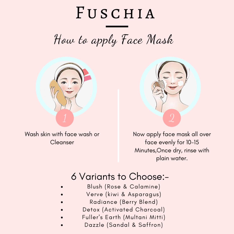 Fuschia Blush Face Mask  - Rose & Calamine -15g