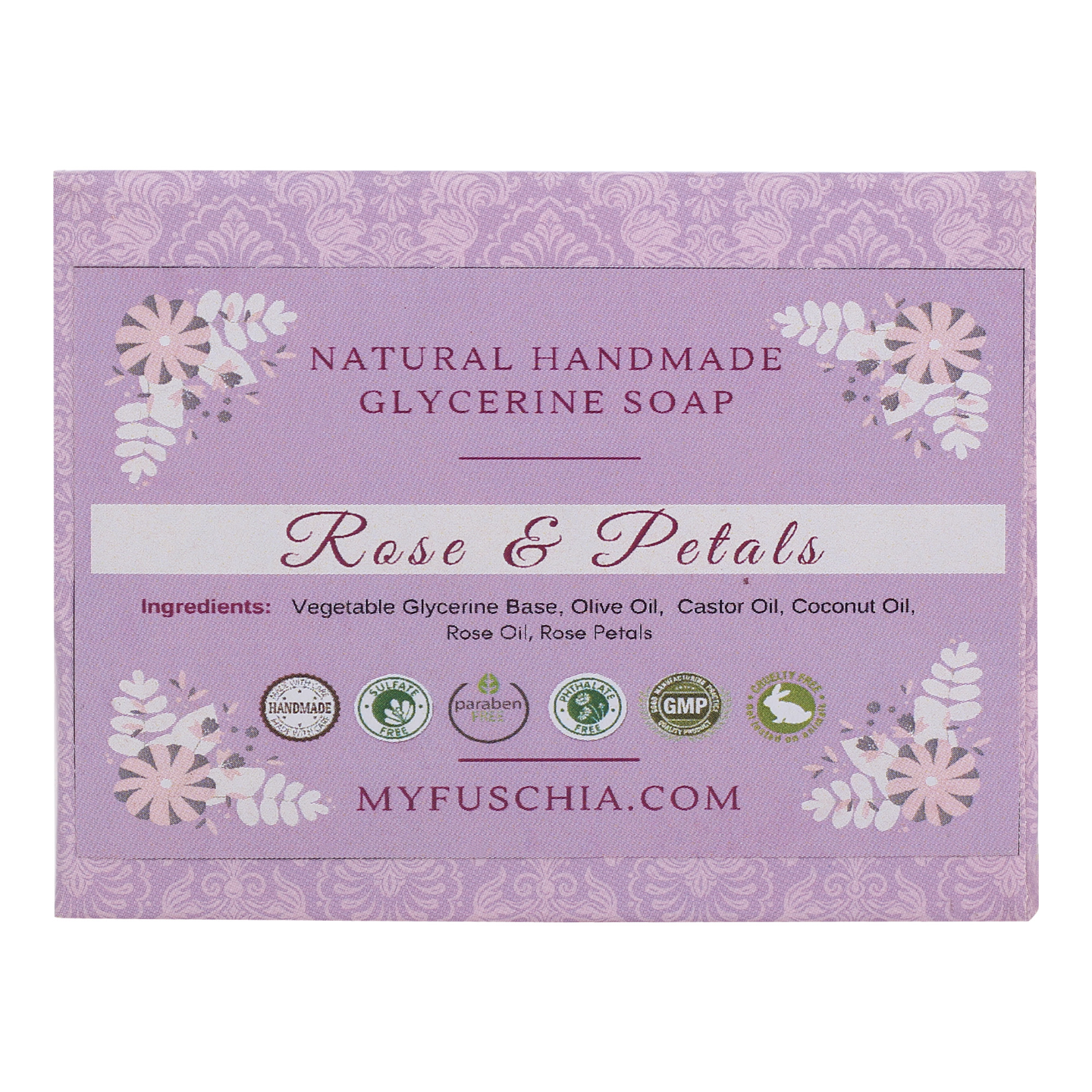 Fuschia - Rose & Petals Natural Handmade Herbal Soap