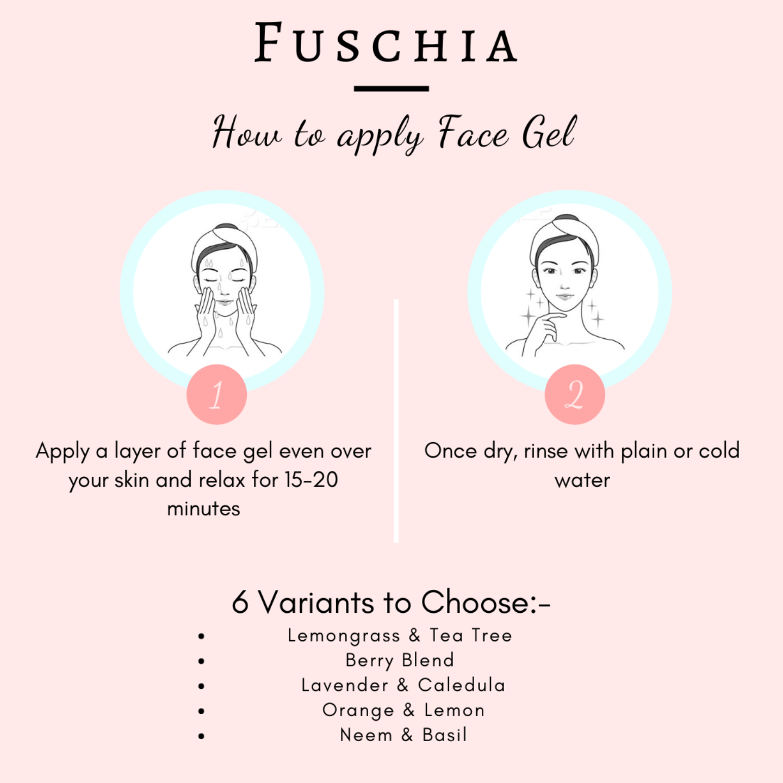 Fuschia Clarifying Face Gel - Orange & Lemon -10g
