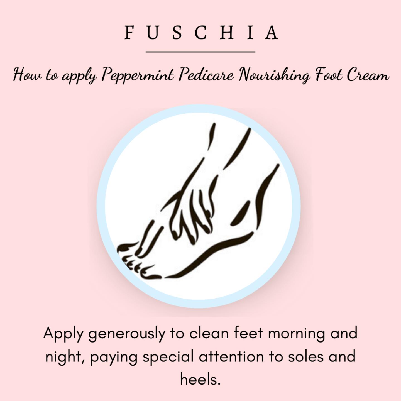 Fuschia - Peppermint Pedicare Nourishing Foot Cream-100g
