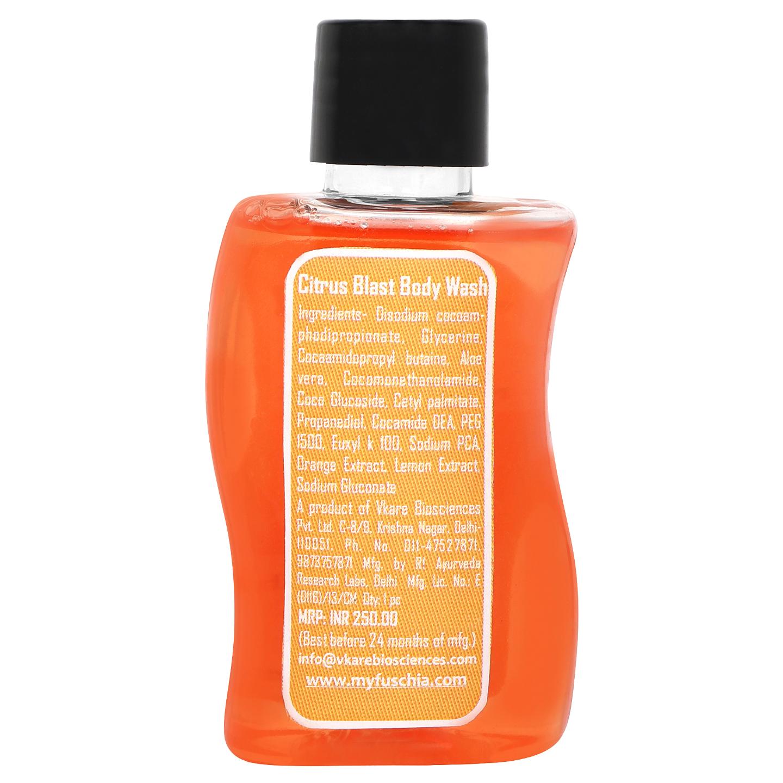 Fuschia Citrus Blast Orange Lemon Soap Free Body Wash - 50ml