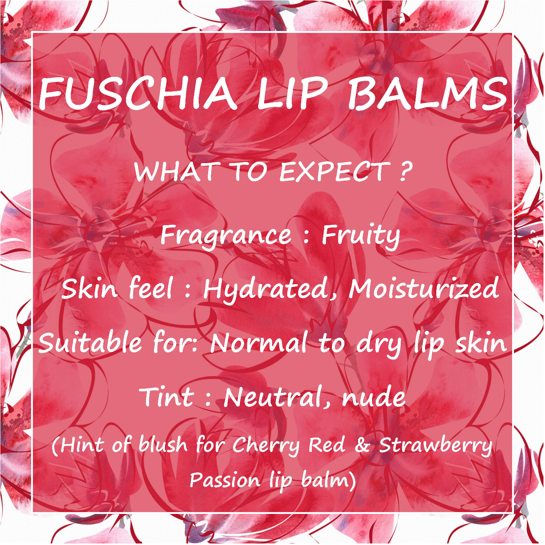 Fuschia  Peach Plush Lip Balm