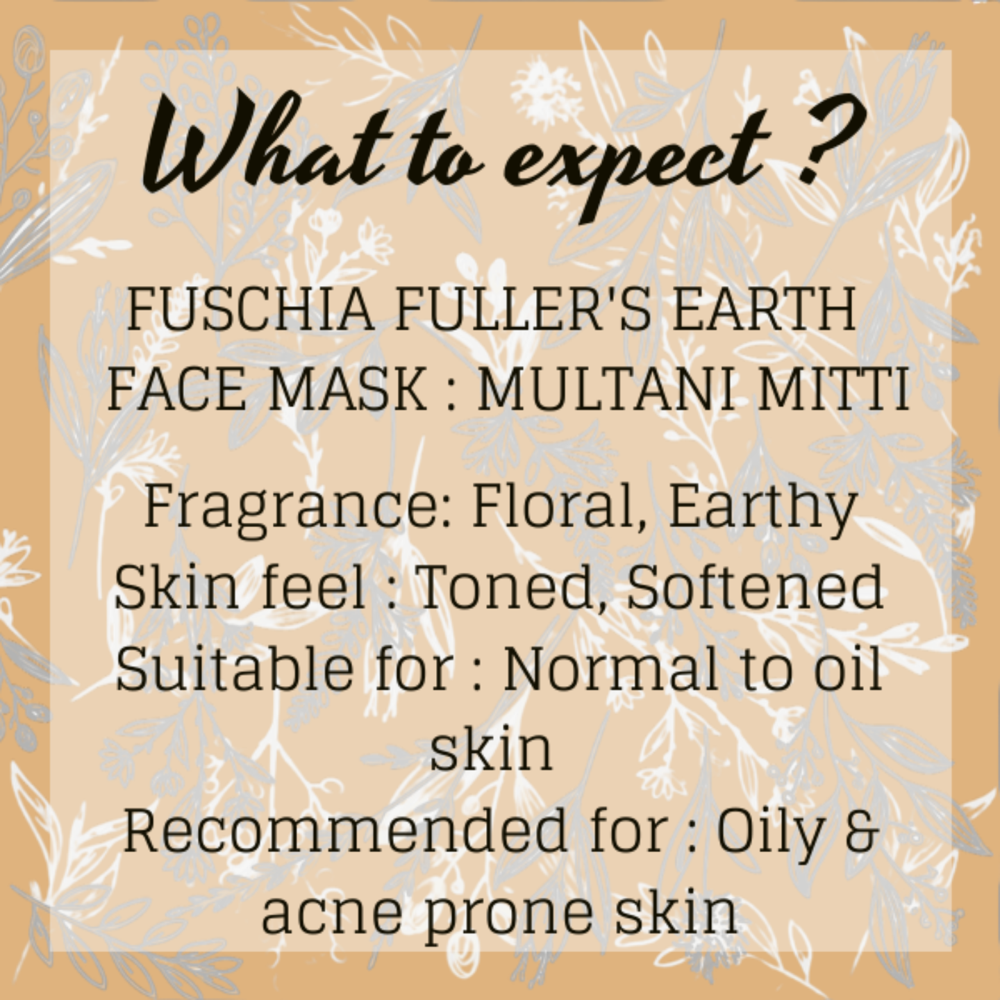 Fuschia Fuller's Earth Face Mask - Multani Mitti - 100g