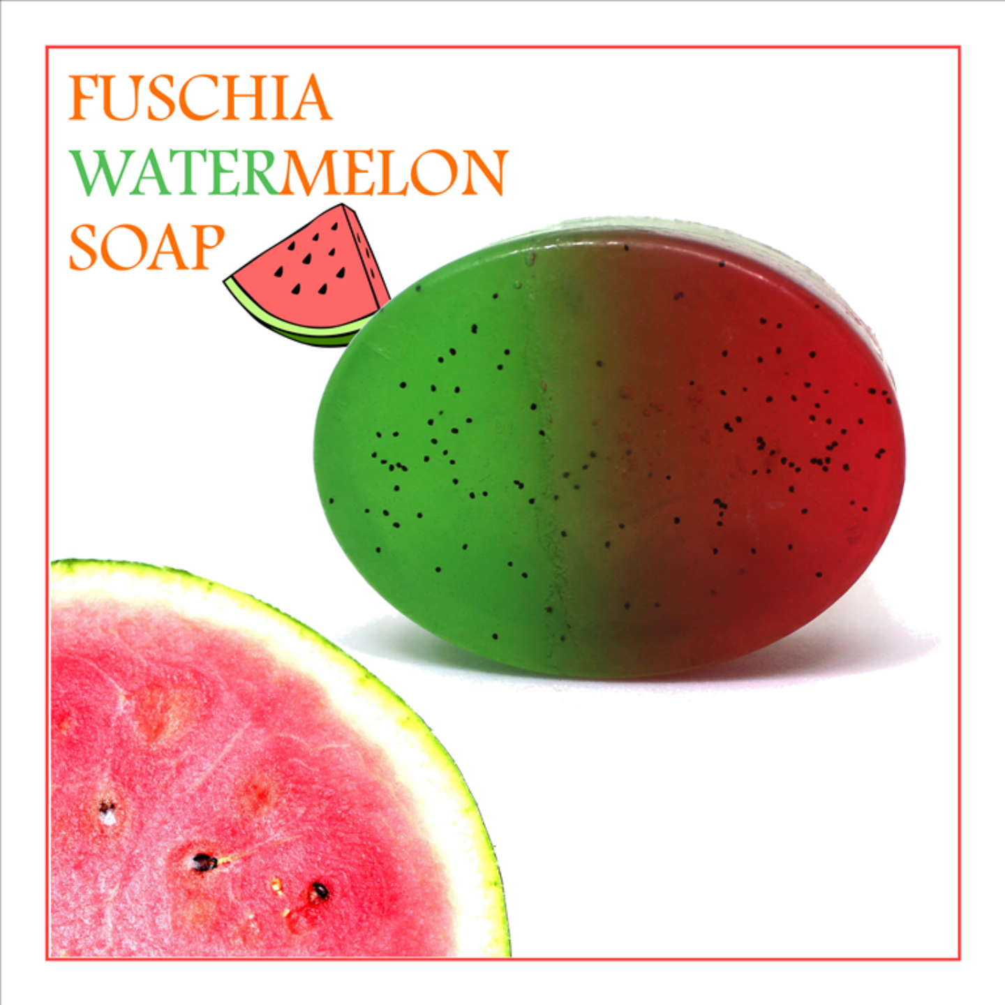 Fuschia - Watermelon Natural Handmade Glycerine Soap