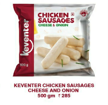 Cheese & Onion Chicken Sausages 500gms
