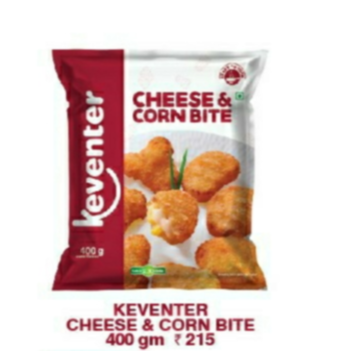 Cheese & Corn Bites 400gms
