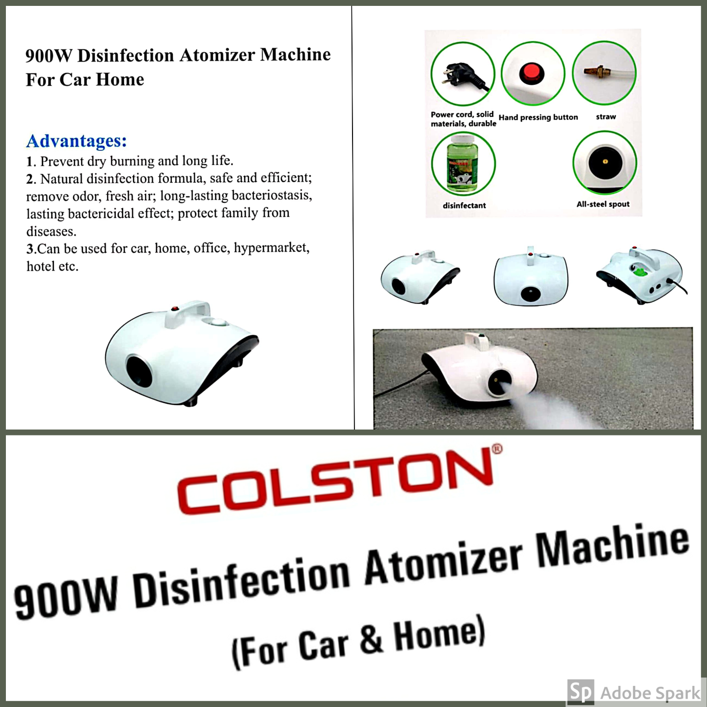 Colston Disinfection Atomiser Machine