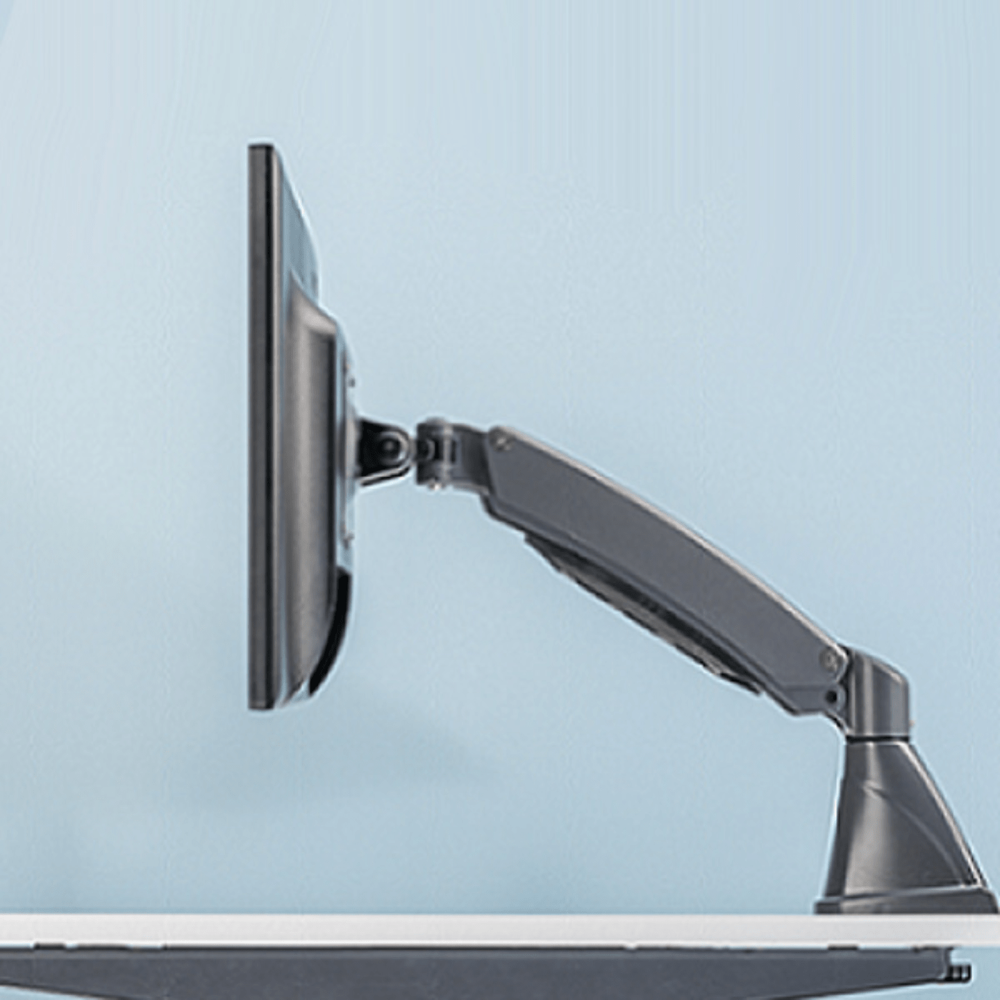 Computer Monitor Arm - Single Arm Edge Mount