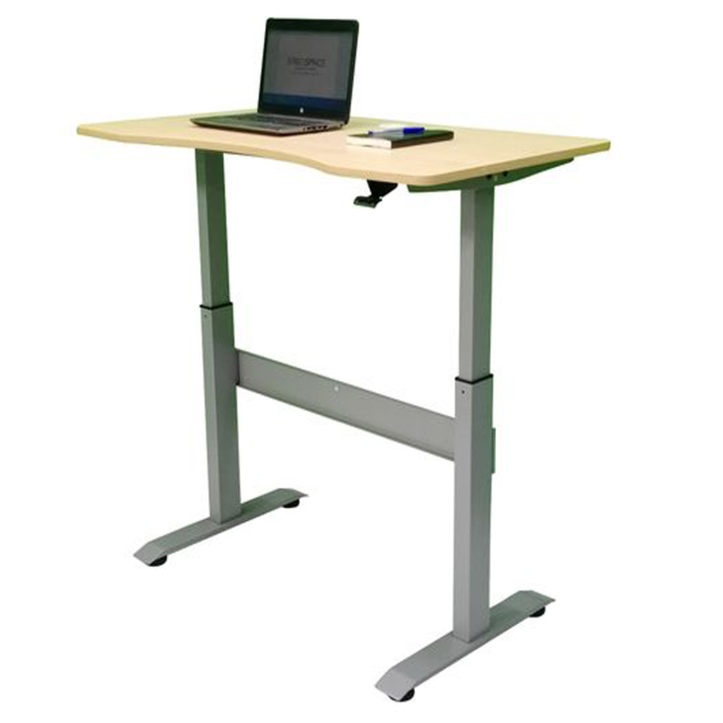 PNEUMATIC LIFT SIT STAND DESK GREY