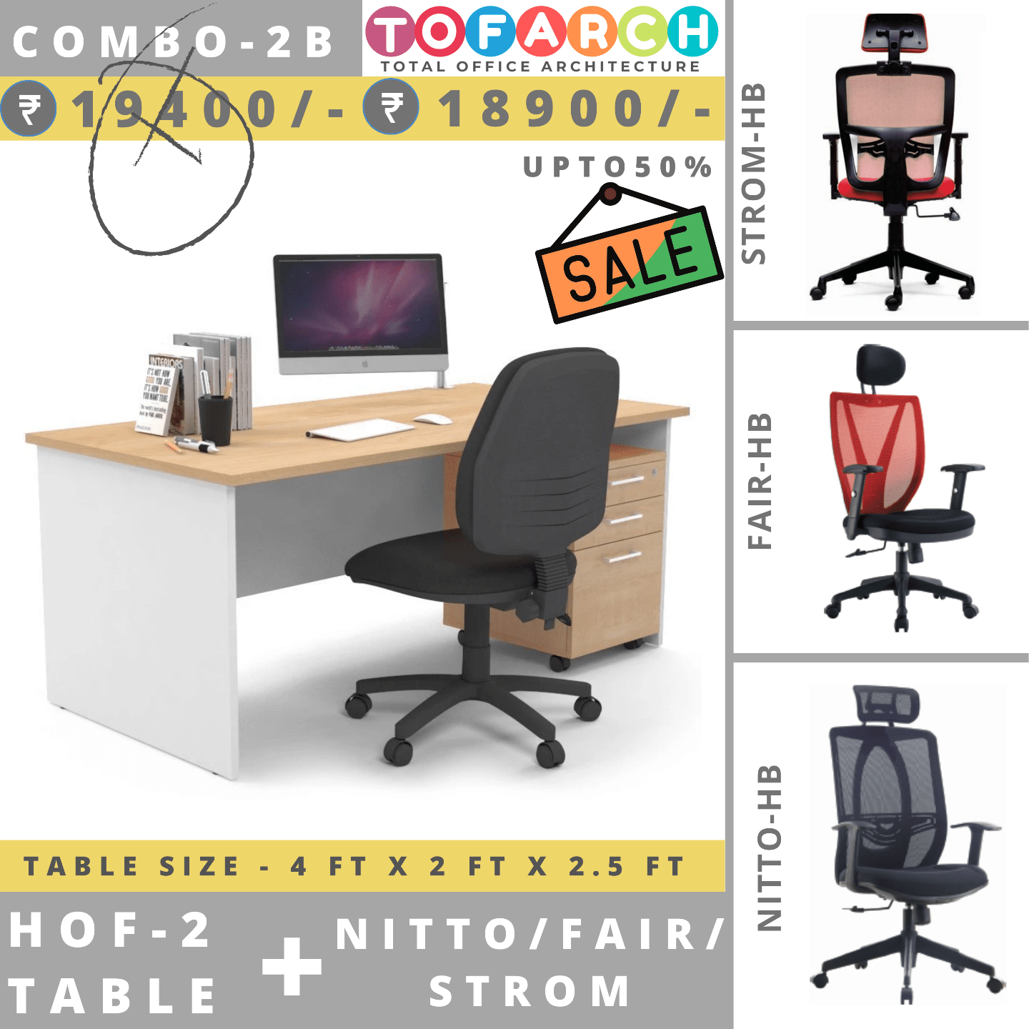 Table Chair Combo - 2B HOF 2 + NITTO  FAIR  STROM