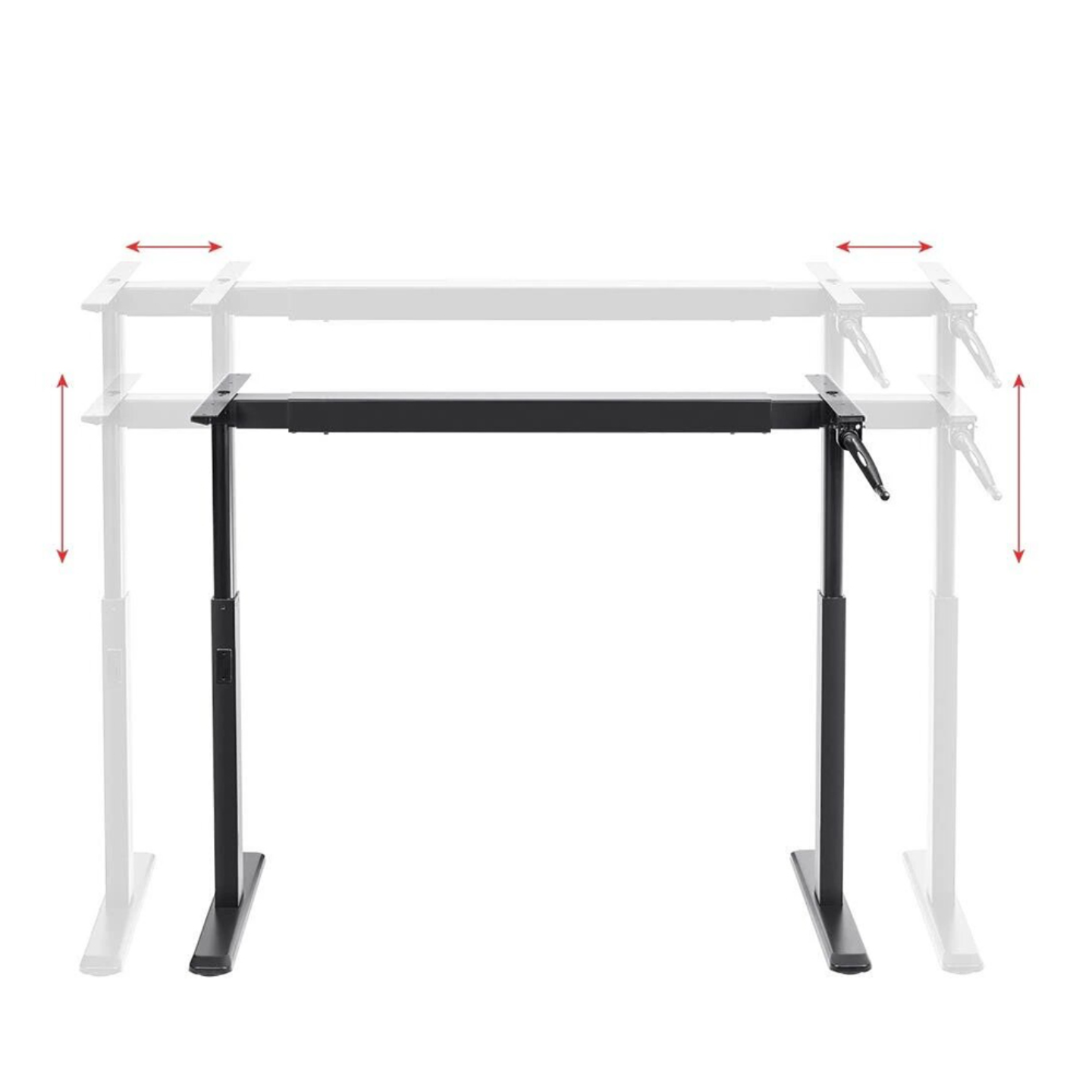 MANUAL WORKSTATION (Black Legs and White Top)