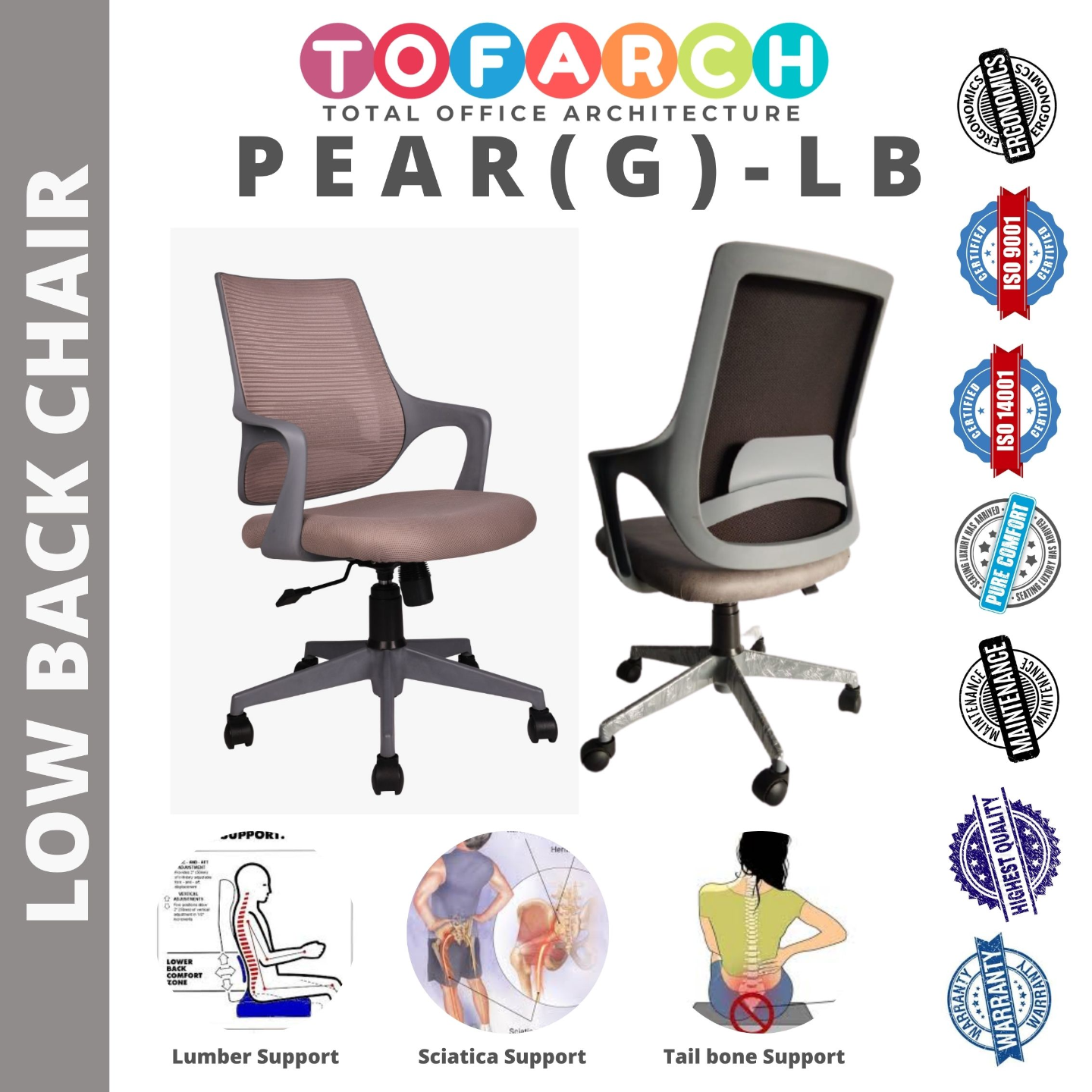 Ergonomics Office Chair PEAR (G) PEACH LB