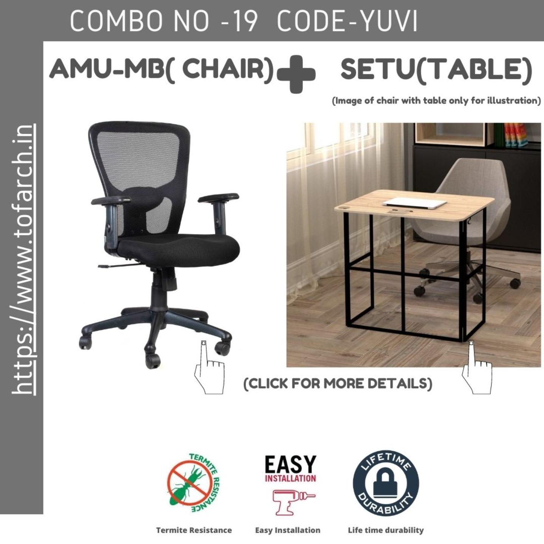 Work from Home Combo YUVI SETU TABLE  + AMU-MV CHAIR