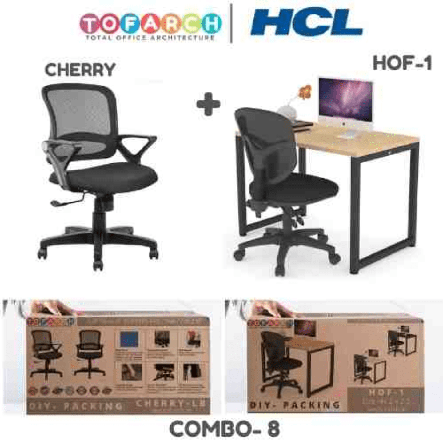 Work from Home Combo 8 CHERRY + HOF-1