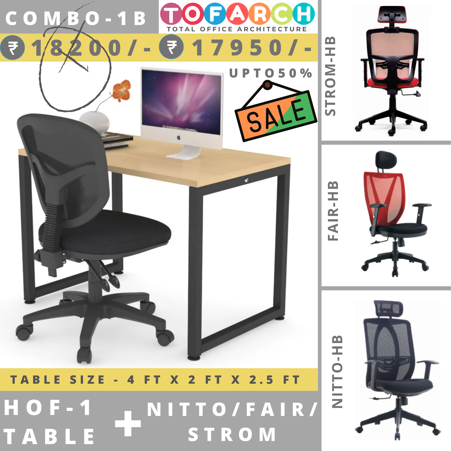 Table Chair Combo - 1B HOF 1 + NITTO  FAIR  STROM