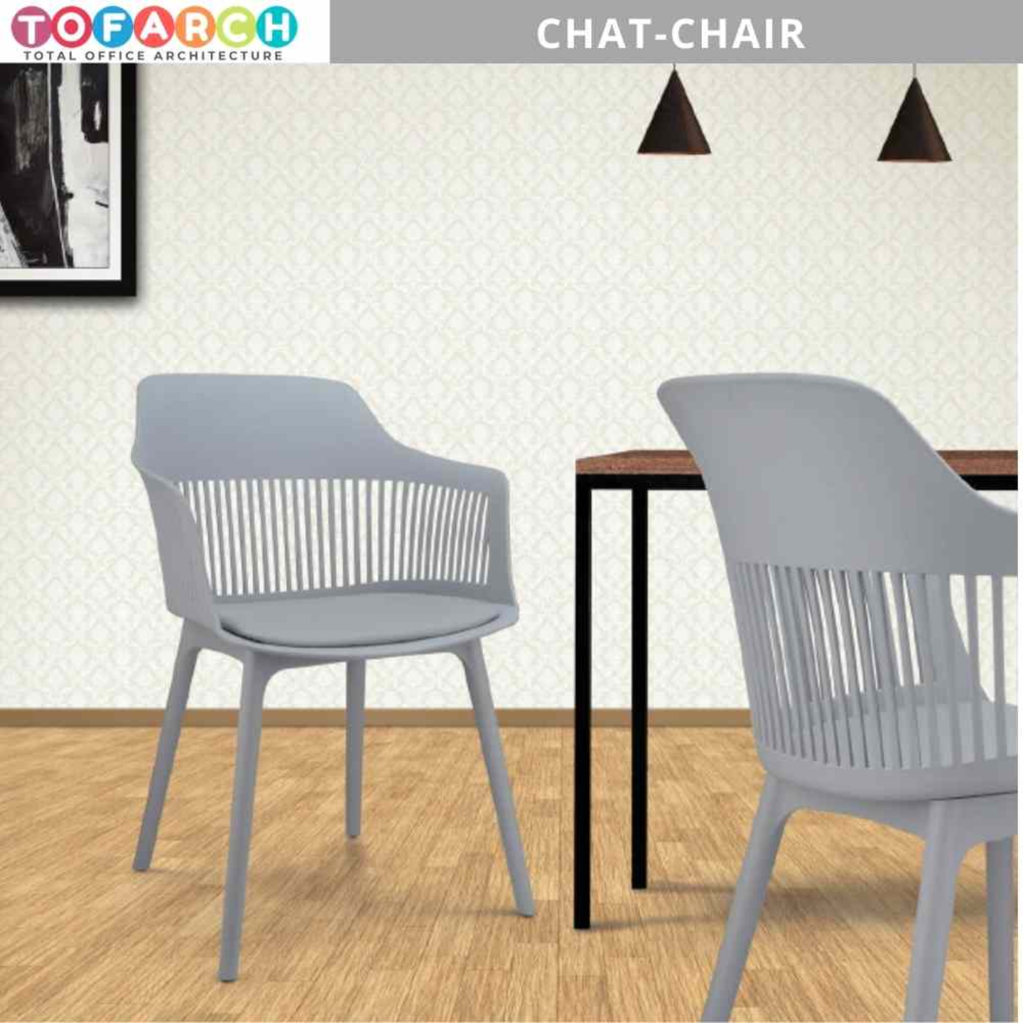 Dining Cum Cafe Chair Chat Cafeteria Chair