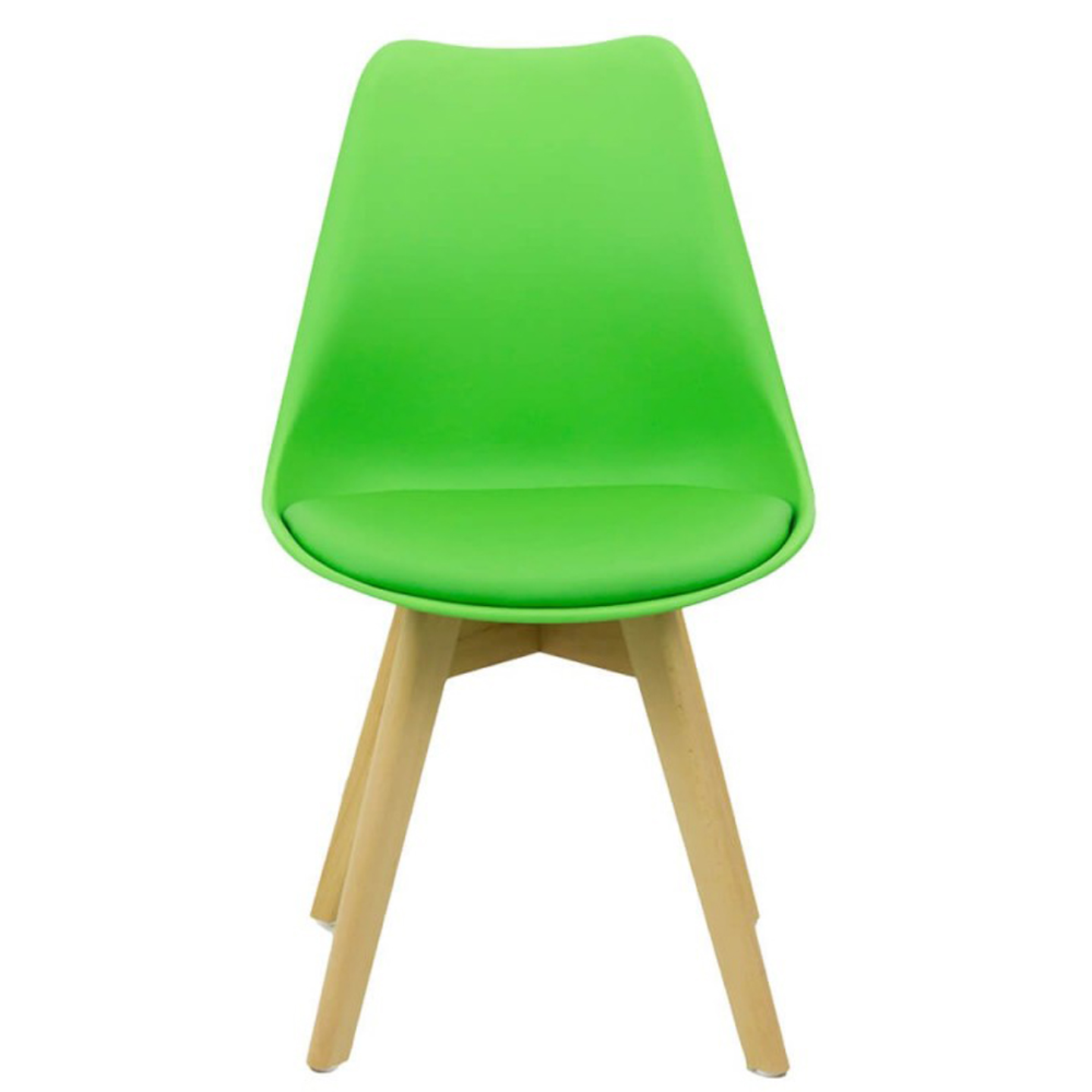 Cafe Chair Zeta C with Wooden Legs and Cushioned Seat
