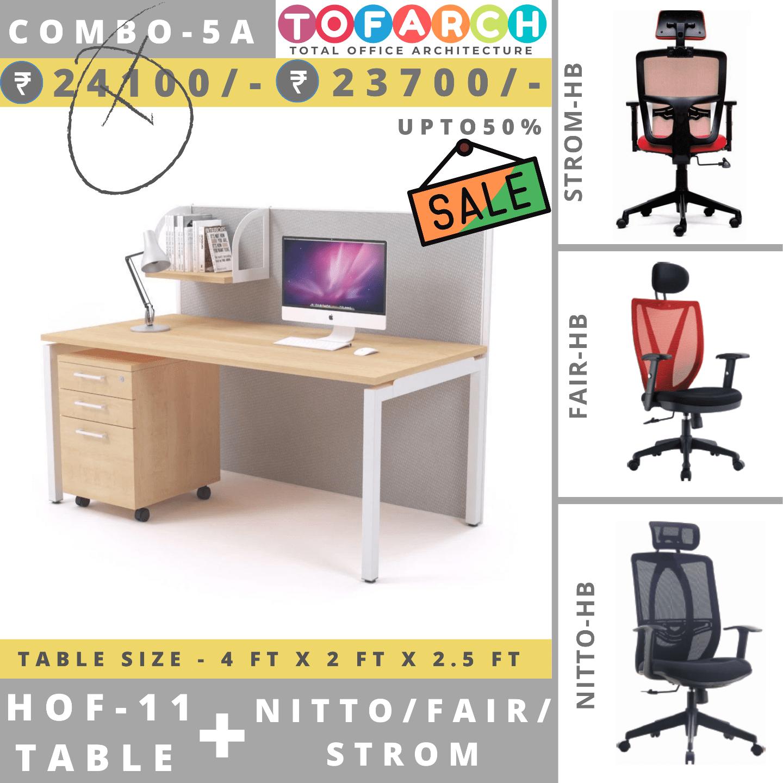 Table Chair Combo - 5A (HOF 11 Table + NITTO / FAIR / STROM Chair)