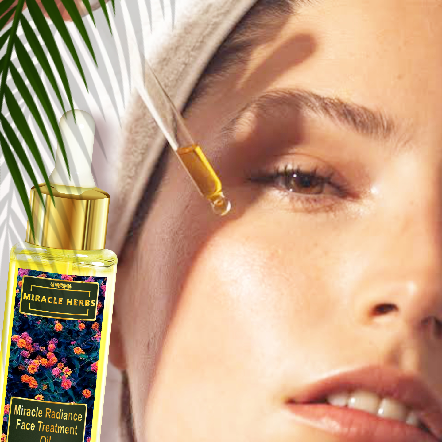 Miracle Herbs Radiance Face Treatment Oil Multivitamin Complex 100 Pure Plant Extracts For All Skin Type,30 ml, Skin Brightening.