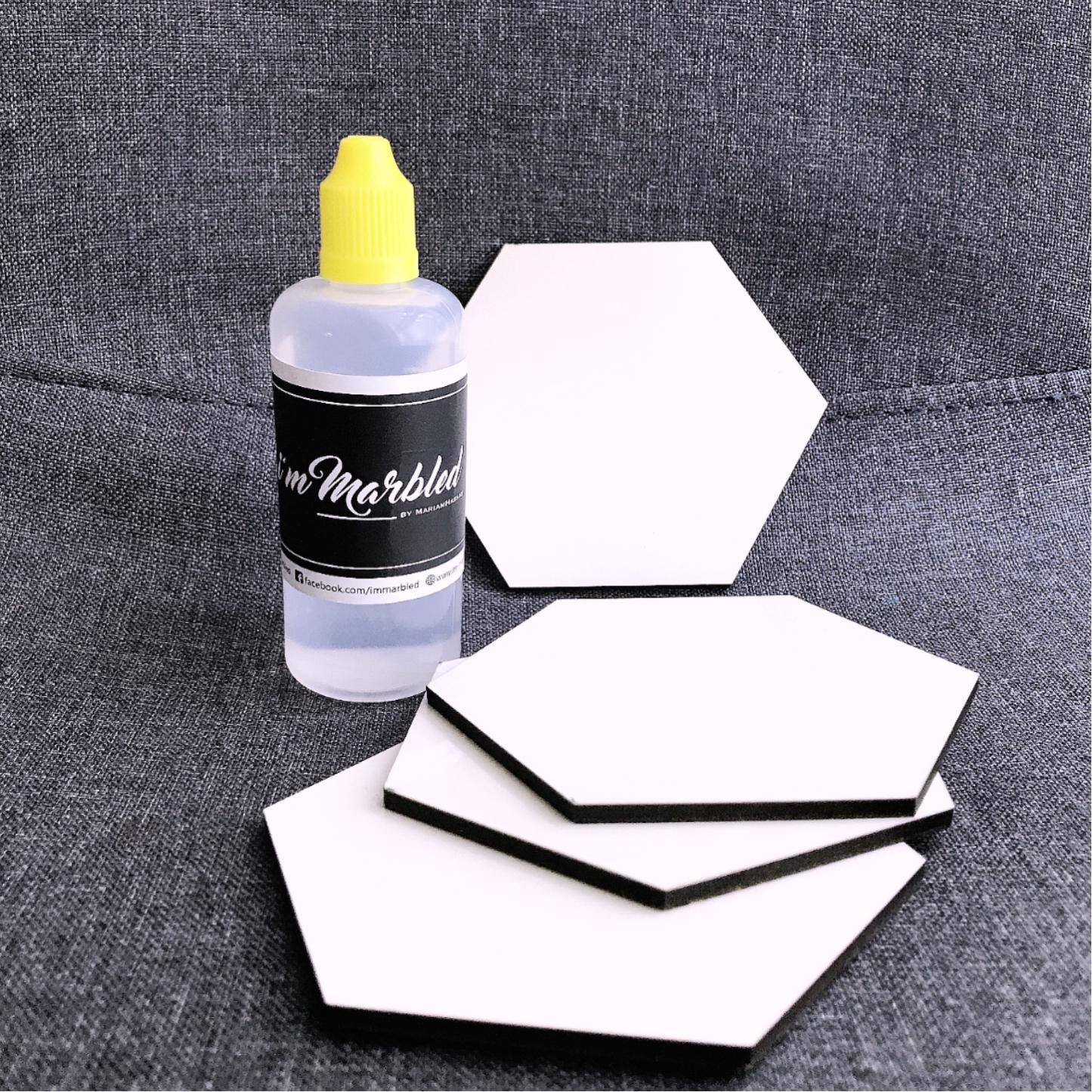 Virtual marker ink workshop + coaster kit