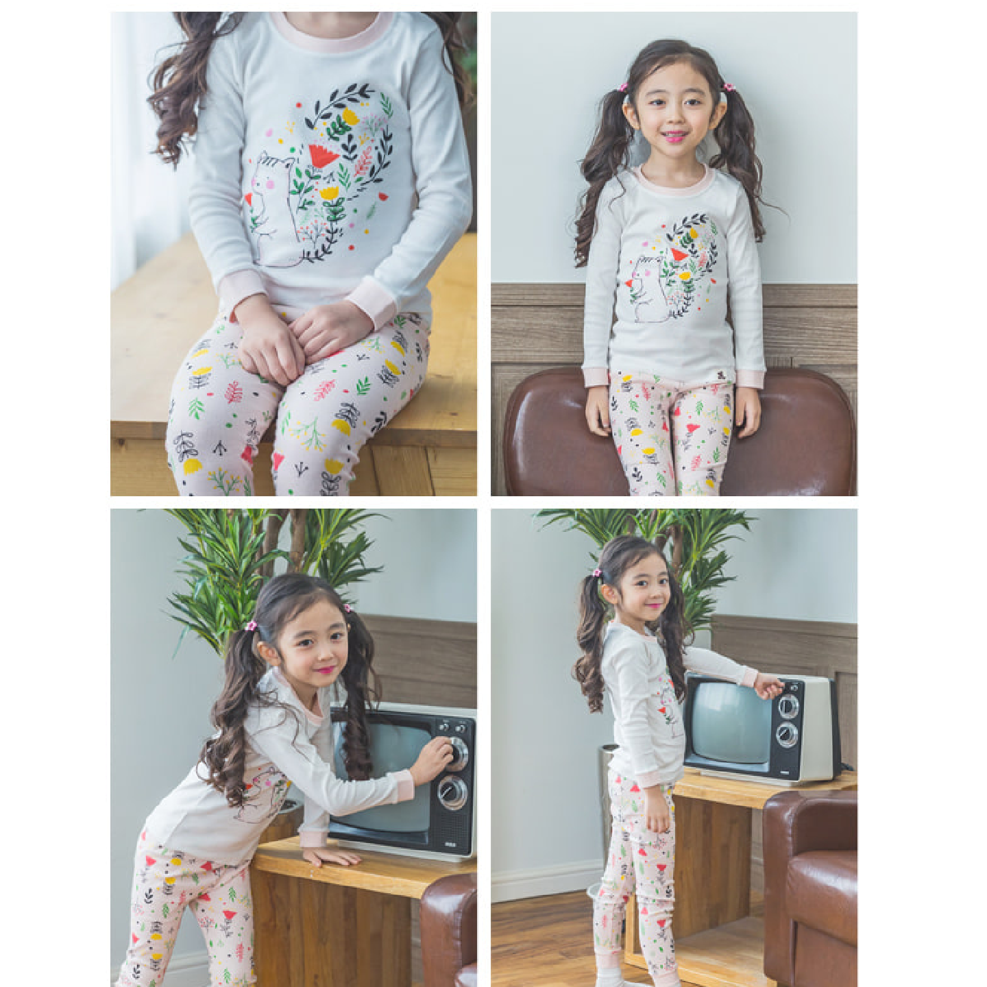Squirrel  Squirrel Floral Easywear PJs