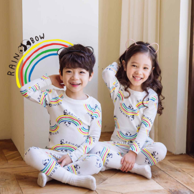 Rainbow Panda Easywear Pajamas