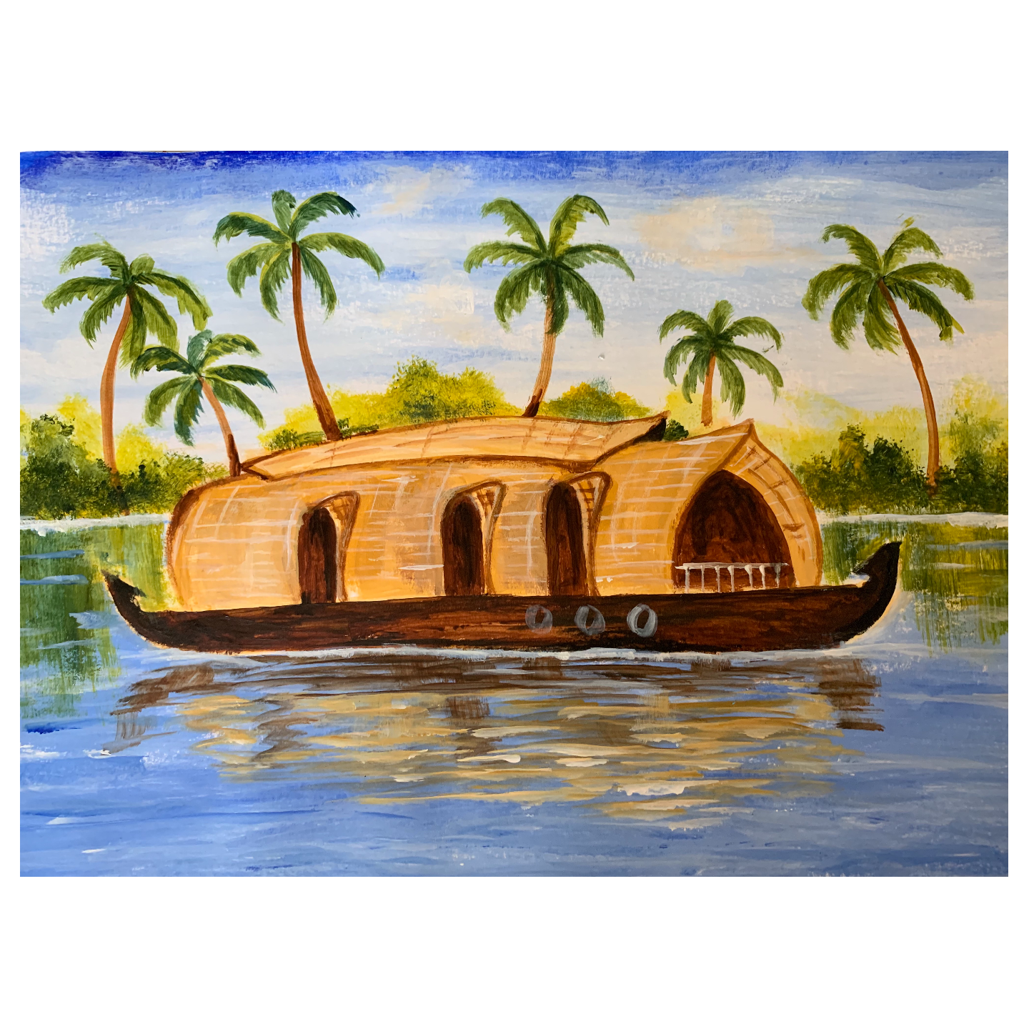 Virtual ArtJam - Houseboat in backwaters