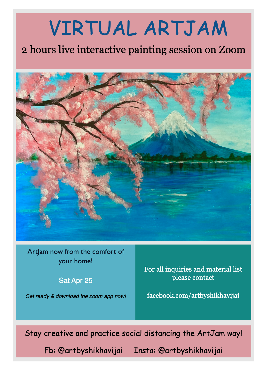 Virtual Artjam - Cherry Blossoms