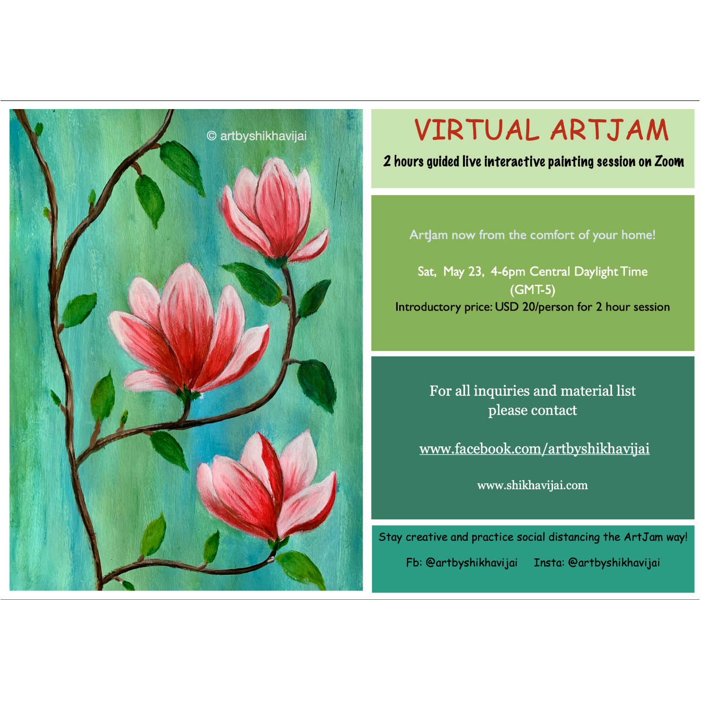 US Special Virtual Artjam - Magnolias