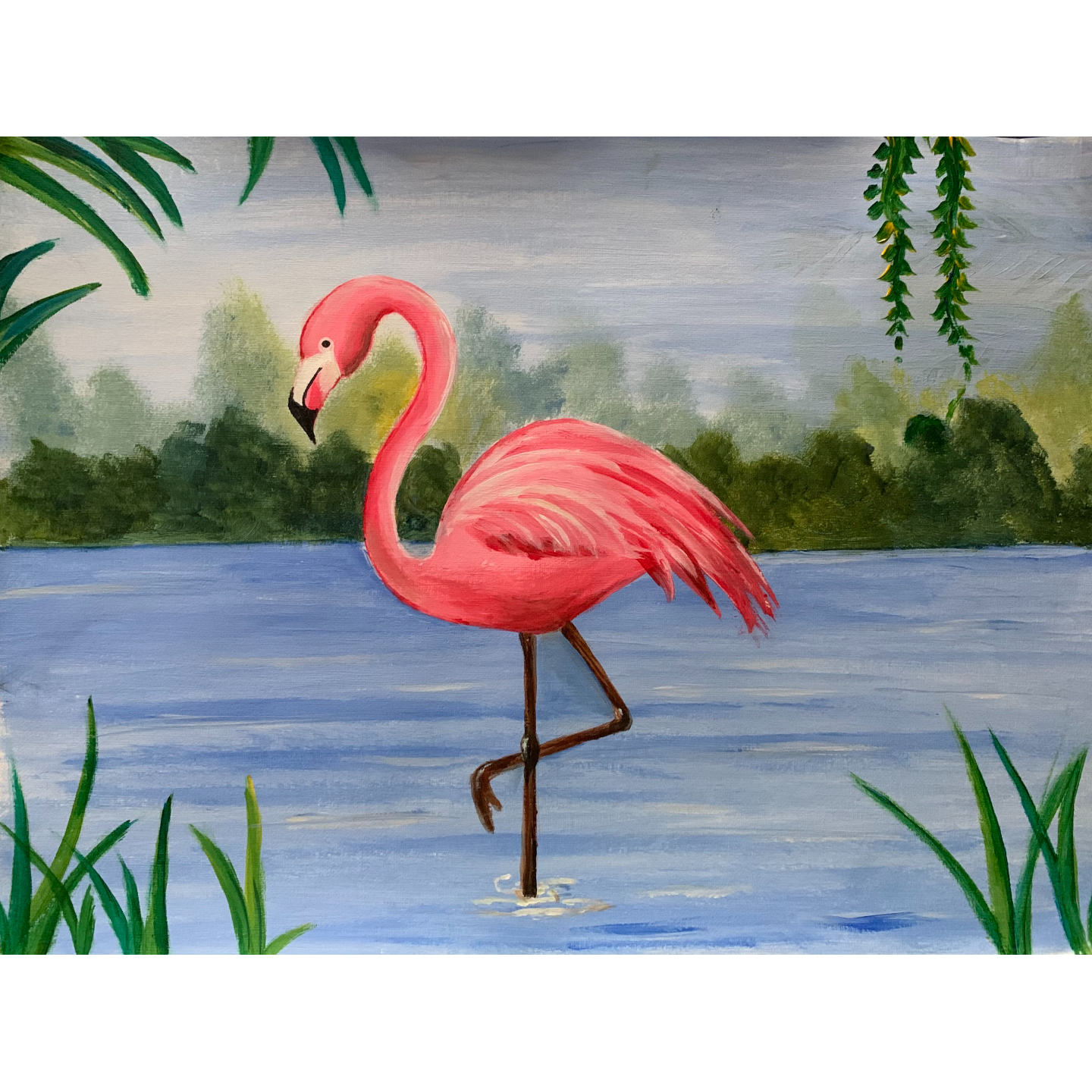 Flamingo in the tropics