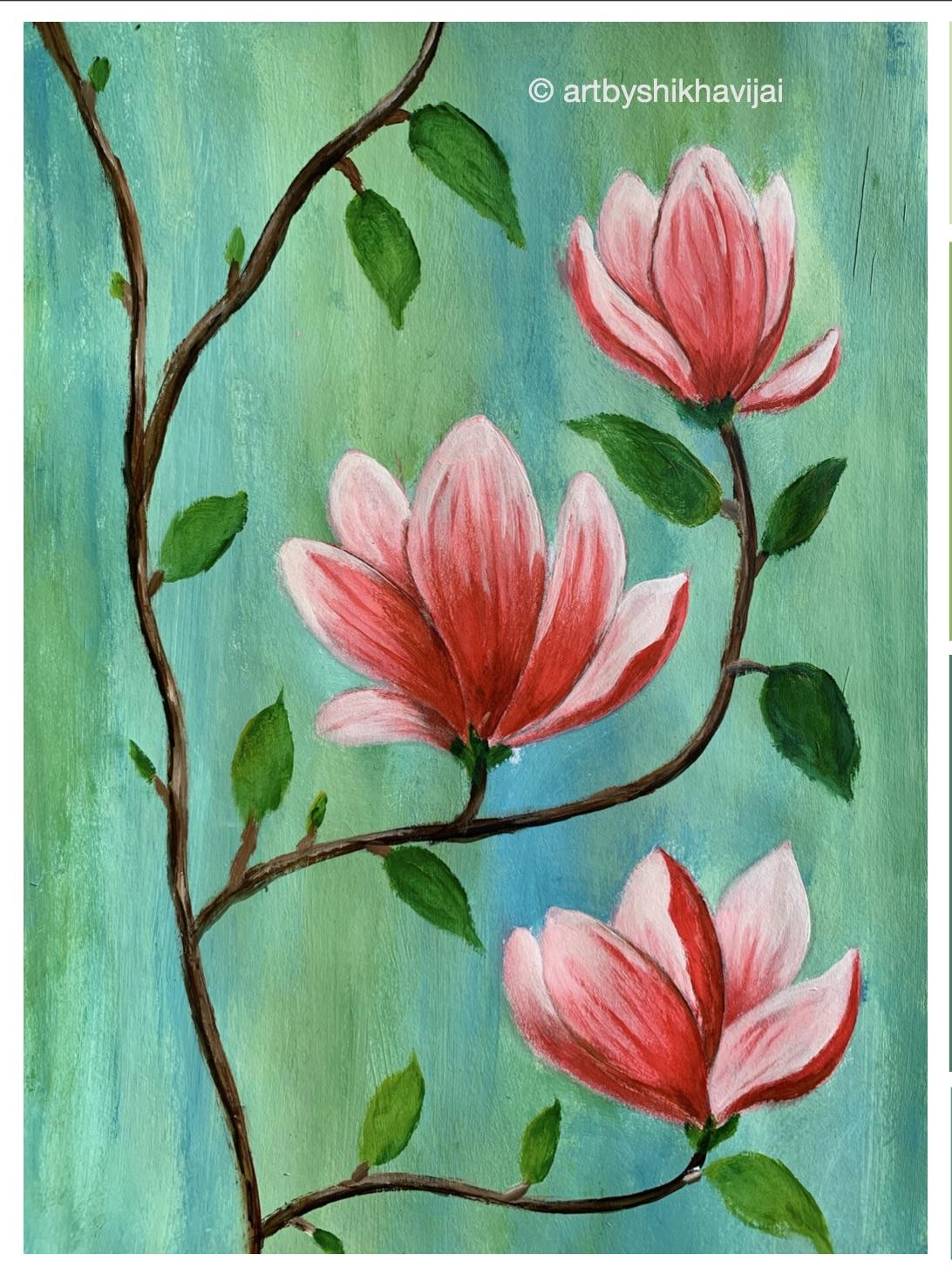 Virtual Artjam - Magnolias