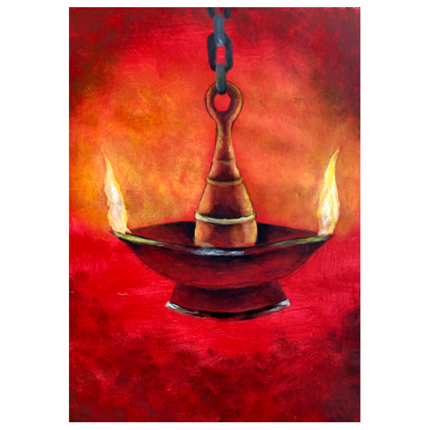 Virtual ArtJam - Diya Lamp