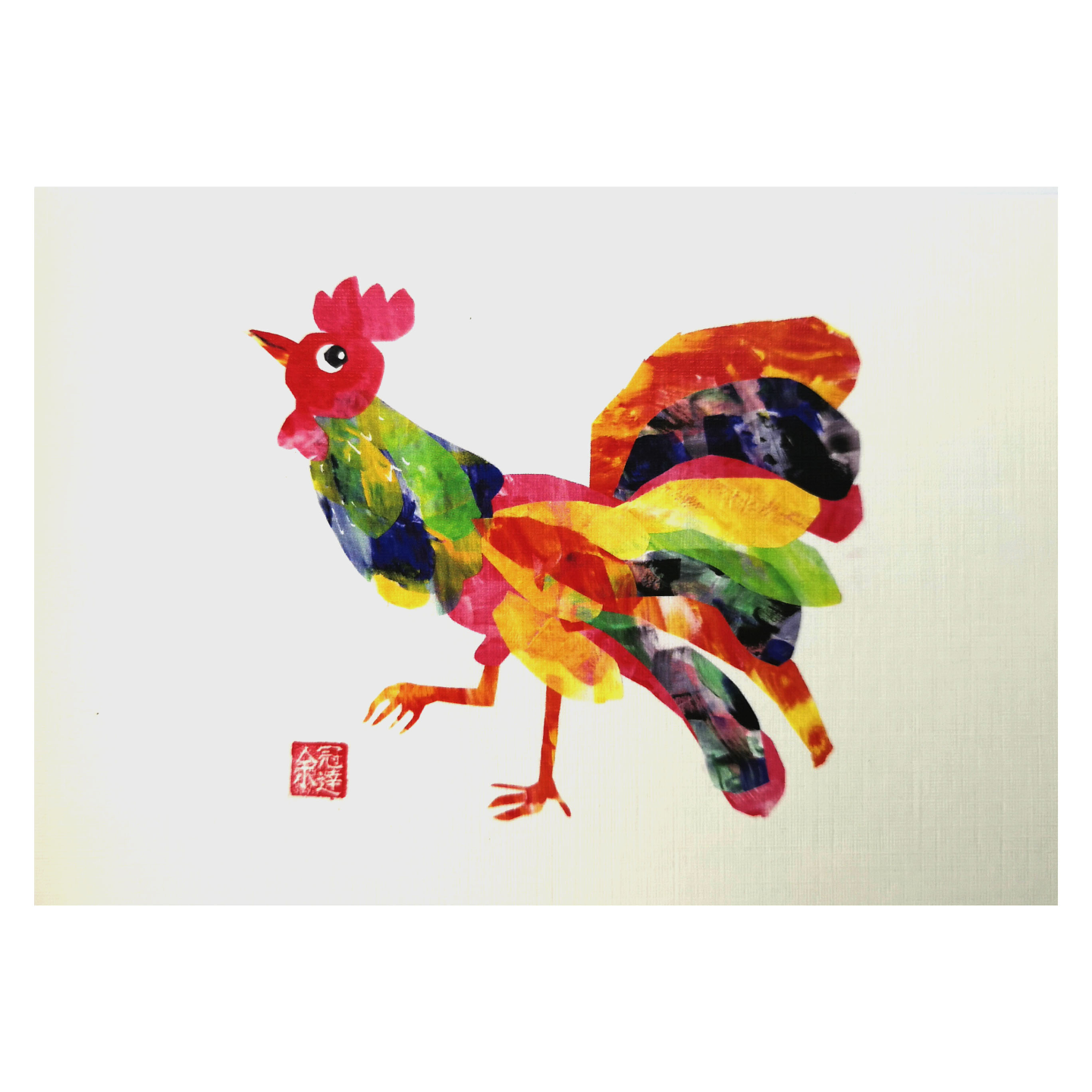 Zodiac Postcard Rooster by Patrick Yee
