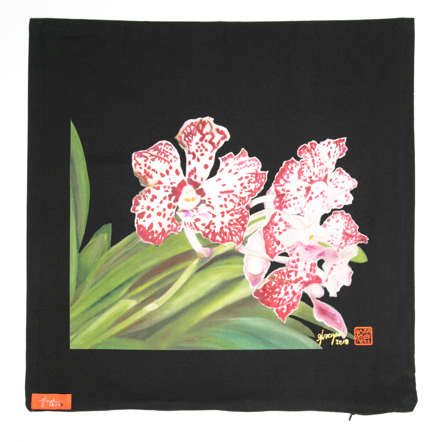 SOS 5 Orchids Cushion Cover - Vanda William Catherine