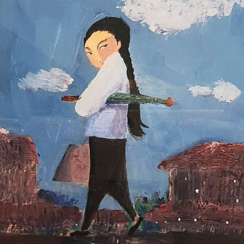 Original Heritage Painting: Majie goes Shopping by Patrick Yee