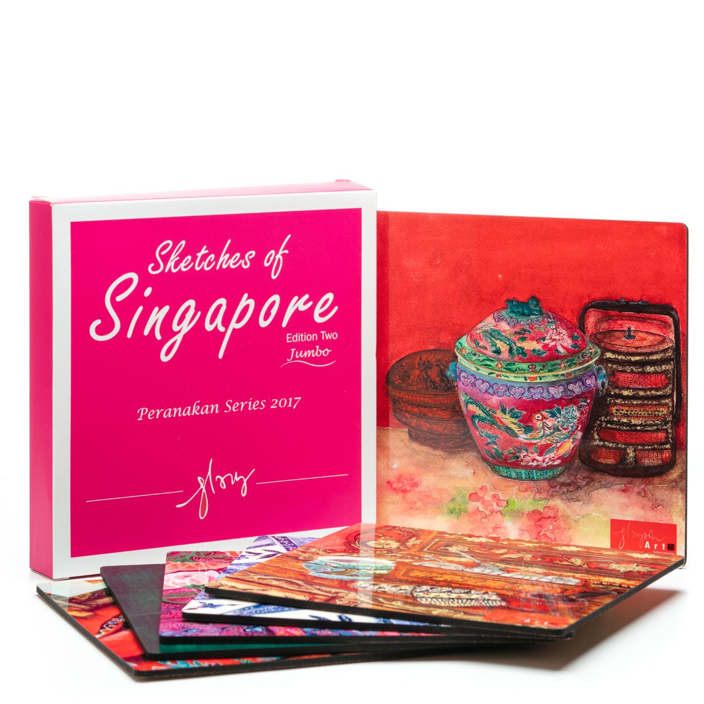 SOS 2 Peranakan Series 2017 Coasters Jumbo