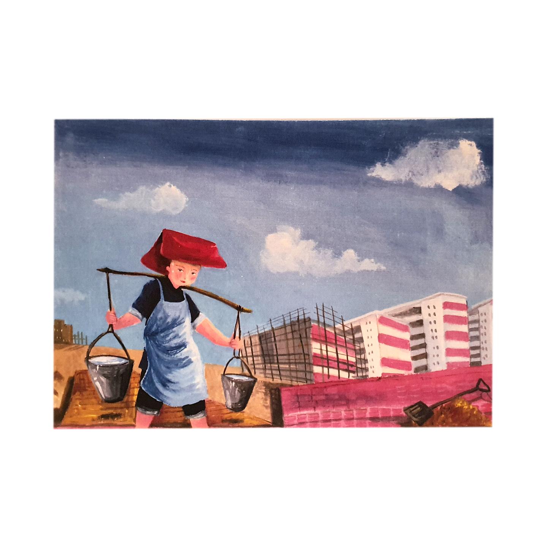 Heritage Postcard Samsui Women by Patrick Yee